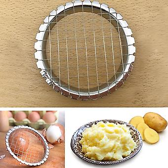 Stainless Steel Egg Splitter , Potato Press Machine - Manual Slicer Kitchen