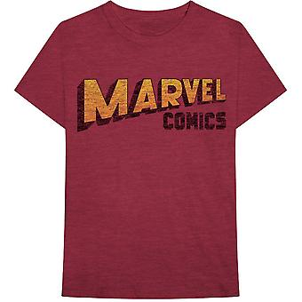Marvel Comics Warped Logo Official Tee T-Shirt Unisex