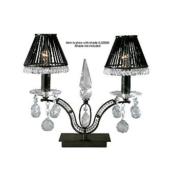 Tischleuchte 2 Light Black Chrome, Crystal