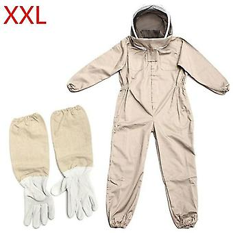 Cotton Full Body Beekeeping Clothing Veil Hood Hat Clothes Jacket Protective