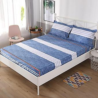 Soft Confortabil Pat Saltea Fitted Bed Sheet - Waterproof Printing Non-slip