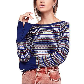 We The Free By Free People | Donna Striped Rib-Knit Tee
