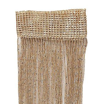 Glitter Fringe String Curtain, Shiny Tassel Flash Silver Line, Window Panel,