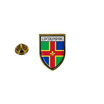الصنوبر الصنوبر شارة الصنوبر pin'apos;ق مدينة تذكارية علم البلاد شعار الأسلحة لينكولنشاير