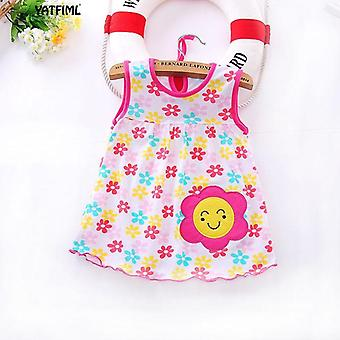 Cute Floral, Sleeveless Nightwear For Baby