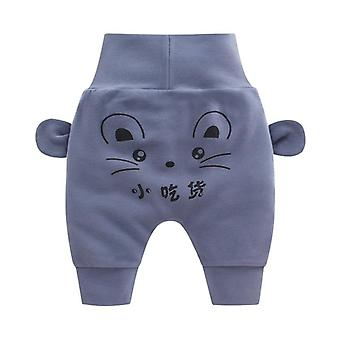 Baby Cartoon High Waist Protection Belly Spring Autumn Newborn Infant Trousers