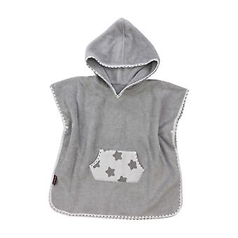 Puckdaddy Bath Poncho Freya 57x80cm Baby Poncho com capuz com padrão estelar em cinza