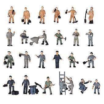 סט צלמיות של עובדי רכבת מיניאטורות - דמויות מצוירות