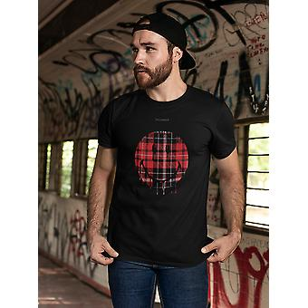 SmileyWorld Plaid Pattern Melting Face Men's T-shirt