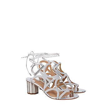 Salvatore Ferragamo 01n730695143 Women's Silver Leather Sandals