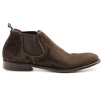 Pawelk's Brown Suede Men's Ankle Boot