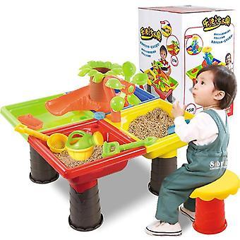 Outdoor Summer Beach Sandpit Toy, Sand-bucket Voda / Koleso / Stolové učenie