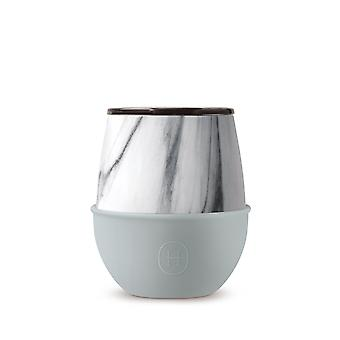 White Marble Tumbler - Stainless Steel