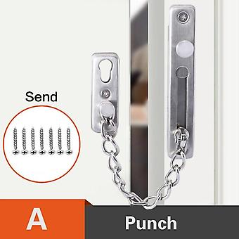 Punch-free Stainless Steel Security Door Chain Lock