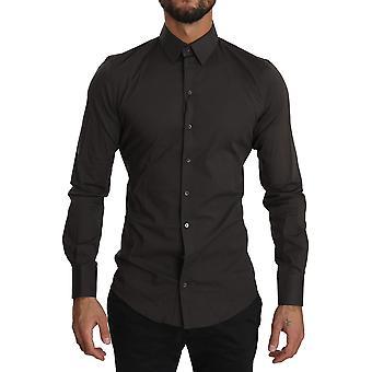 Brown sicilia formal dress cotton  shirt