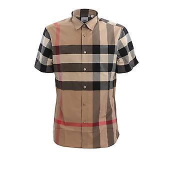 Burberry 8017322a7028 Men's Beige Cotton Shirt