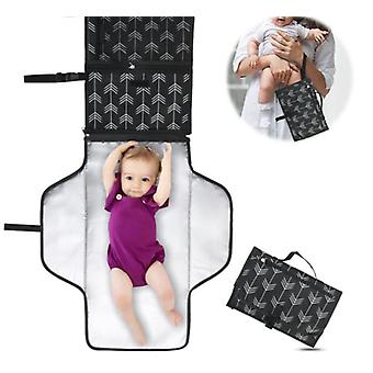 Portable Diaper Changing Pad With Soft Head Pillow