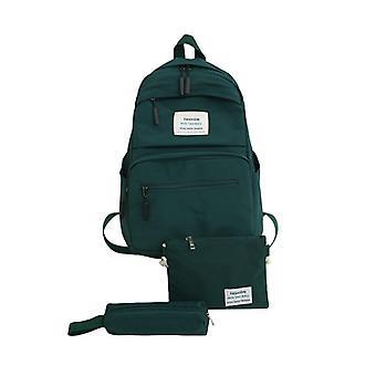 Nylon Backpack, Solid Color Shoulder Bag, Casual Women, Teenage, School Bag