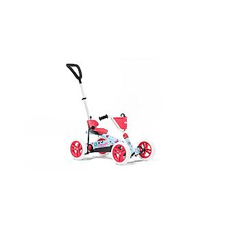 BERG rosa buzzy bloom 2-in-1 pedal go kart con push bar parentale