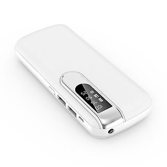 すべてのパワーバンク50,000mAhデュアル2x USBポート - LEDディスプレイと懐中電灯 - 外部緊急充電器充電器ホワイト