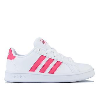 Girl's adidas Children Grand Court Trainers in White