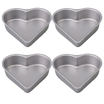 Cheesecake Pan Heart Shaped Mini Cake Pans Bakeware Silver Set of 4 Cheesecake Pan Heart Shaped Mini Cake Pans Bakeware Silver Set of 4 Cheesecake Pan Heart Shaped Mini Cake Pans Bakeware Silver Set of 4 Cheeseca