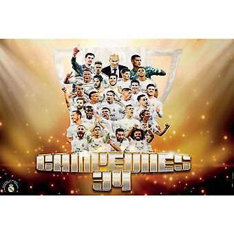 Real Madrid CF Campeones 34 Poster