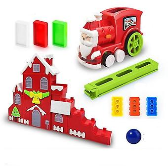 Electric Model Train Domino And Vehicle Educational Blocks Game
