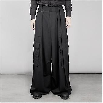 High-waisted Trousers, Super Long A-shaped Flared Pants, Wide-leg Pants