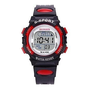 Waterproof Casual Led Sports Digital Watch Kids Alarm Date Hombre