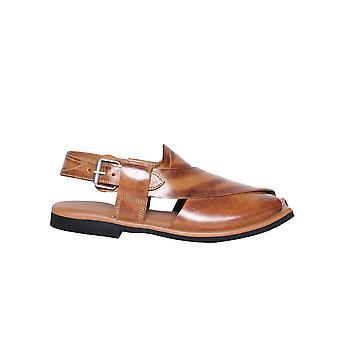 Gewachste schattierte Herren Leder Fischer Reifen Sohle Sandale