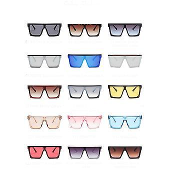 شقة أعلى النظارات الشمسية الرجال النساء العلامة التجارية مصمم مربع ظلال التدرج مرآة كول