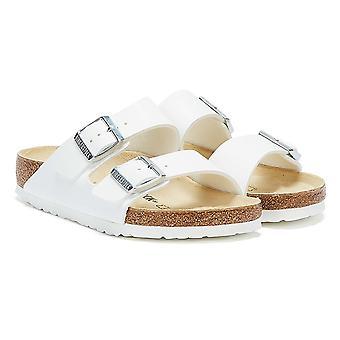 Birkenstock Аризона Birko-Flor Белые сандалии