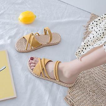 Summer Shoes Woman Sandals Flat Sandalias Mujer Thin Strips Gladiator Beach