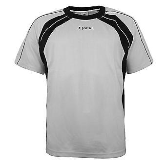 Joma Mens Training T-Shirt Casual Sportswear Grey Top 442 40 118