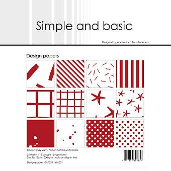 Simple and Basic Chili Red 6x6 Inch Paper Pack