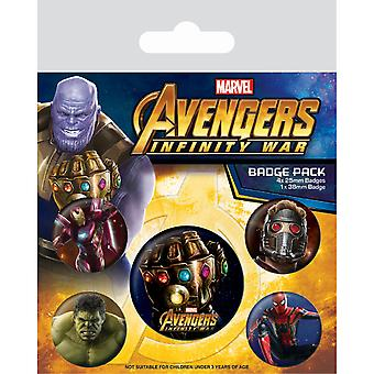 Avengers Infinity War Infinity Gauntlet Badge Set (Pack de 5)