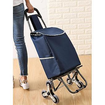 عربة فائدة قابلة للطي مع حقيبة تسوق كبيرة إضافية