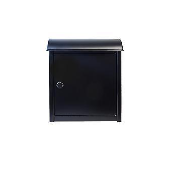 Leece pared montado buzón en negro con bloqueo combinado
