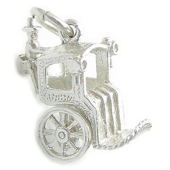Hansom Cab Sterling Silver Charm 0,925 X 1 victorianske Transport Charms - 4475