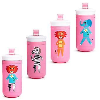Munchkin twist mix and match sippy cup pink all 4 supplied