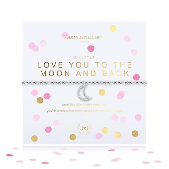 """ג'ומה תכשיטים קונפטי קצת אוהב אותך לירח ובחזרה כסף 17.5 ס""""מ מתיחה צמיד 4340"""