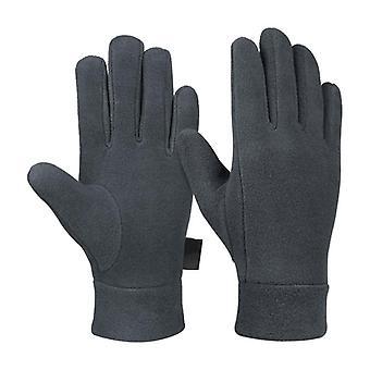 Mann Outdoor Reiten Fleece Handschuhe - Winter Light Thermal Sport voller Finger