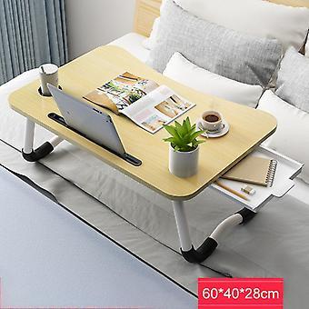 60X40cm enlarge foldable telecommuting computer laptop desk table tv bed computer mackbook desktop holder with drawer