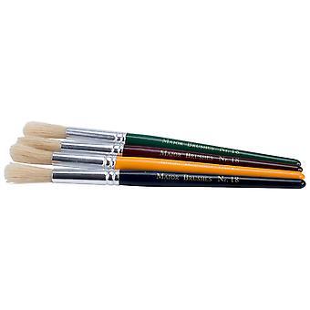Major Brushes Children's Paint Brushes (Chunky), Set of 12 in 4 Colours