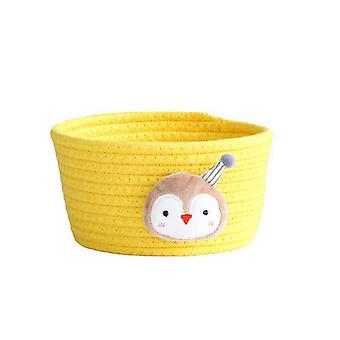 Cartoon Animals Hand Woven Storage Basket