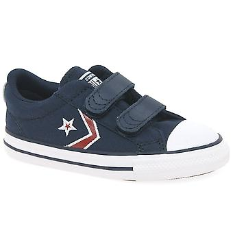 Converse Star Player 2V Embroid Kids Infant Canvas Trainers