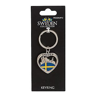 Keychain Souvenir Heart Skyline