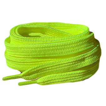 Neon keltainen flat trainer kengännauhat nauhat