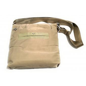 Mandarin Kvinne Duck Crossbody Bag Mod. Savner Duck Nylon Lys Taupe Bs18md22